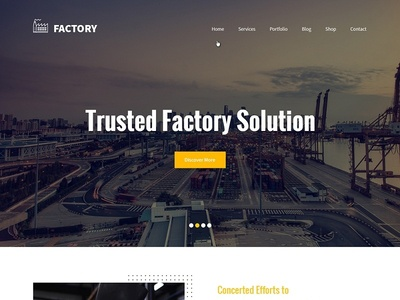 Factory - Industry Manufacturing WordPress Theme