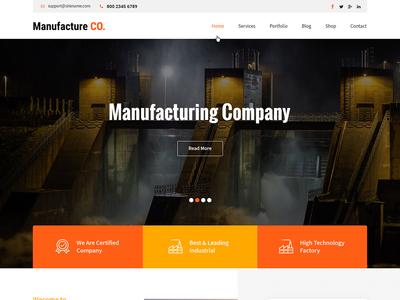 Industrial, Engineering & Manufacturing WordPress Theme