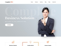 Professional Complete Website WordPress Template