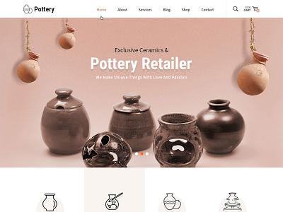 Ceramics and Pottery Decor Responsive Website Design ux web design wordpress theme wordpress template wordpress development wordpress design website builder theme design
