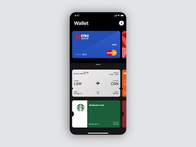 Apple Wallet concept wallet app ios cards finance wallet apple concept ux app mobile minimal ui adobe xd