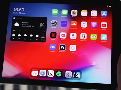 iPadOS Multitasking Concept interaction ipados14 ios14 concept motion ux animation ui multitasking ipad ios ipados