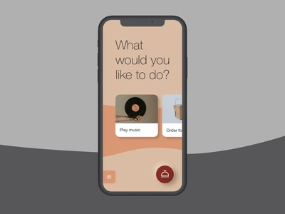 🛎 Minimal hotel app welcome screen