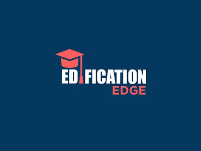 Edification Edge Logo classic simple brand minimal education creative design logo