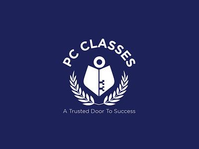 PC Classes branding brandmark adobe photoshop adobe illustrator simple minimal design creative classic logo institute educational