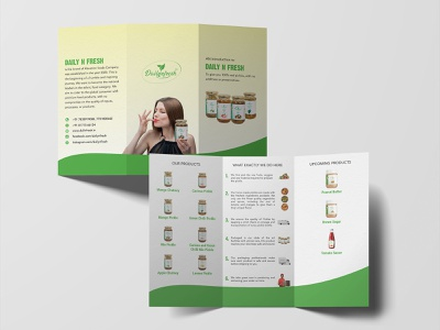 DailyNFresh Brochure website banner creative minimal adobe photoshop adobe illustrator marketing brochure logo branding