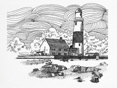 Vacation to the lighthouse ink etching black and white crosshatching hand drawing architecture travelsketch dailydrawing urbansketching sketchwork sketcharchitecture sketching architectural drawing