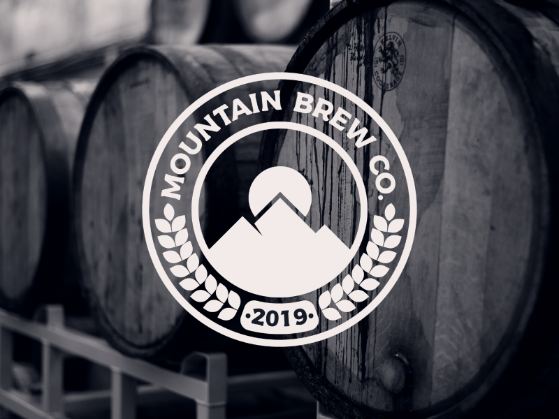 Mountain Brew Co. new identity design branding crest icon brewery beer illustrator logo design badge logos logo