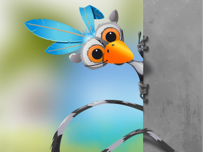 Twitter Lemur   yootheme illustration twitter lemur zoo