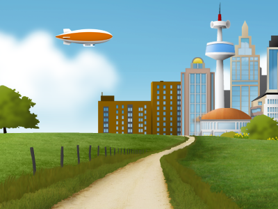 Summer Landscape Illustration   yootheme illustration landscape theme themes