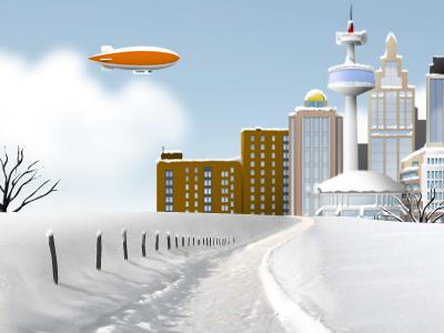 Winter Landscape Illustration yootheme illustration landscape theme themes
