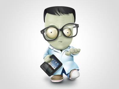 Geek Zombie Icon yootheme icon icons zombie geek