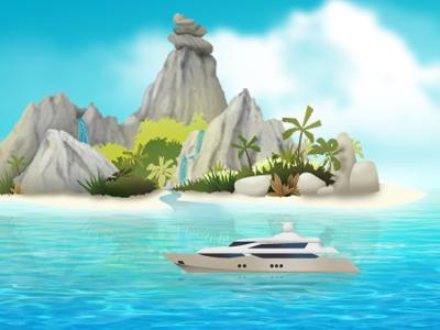 Sunshine Island Illustration