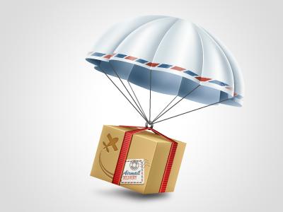Parachute Icon yootheme icon icons shopping parachute box