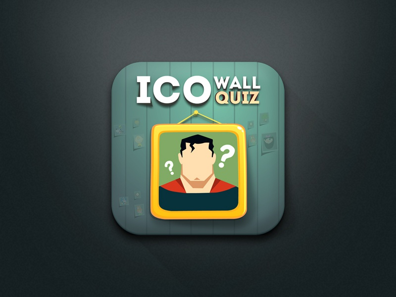 Coming up project icon ios icon ico wall quiz quiz app icon wall frame new app ios app icon