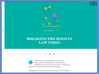Article from`The Changing Lawyer` Report