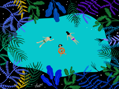 Illustration : Swimming with Nature