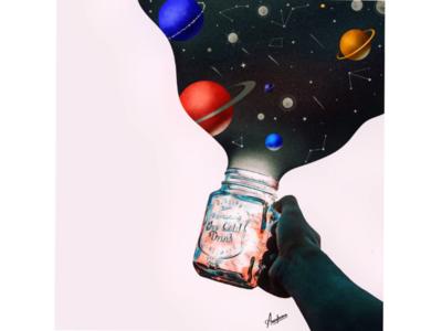 Illustration : Galaxy Jar