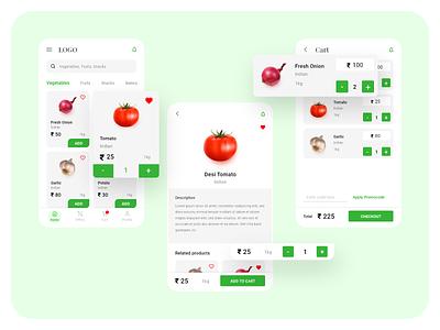 Online Grocery ui design grocery online grocery app online grocery app design xd design ui