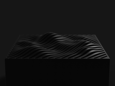 Wave speaker parametric irregular designthinking black audio fashion style sophisticated product design product bluetooth wireless portable pattern sound music id industrial design design speaker