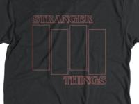 Stranger Things / Black Flag tee