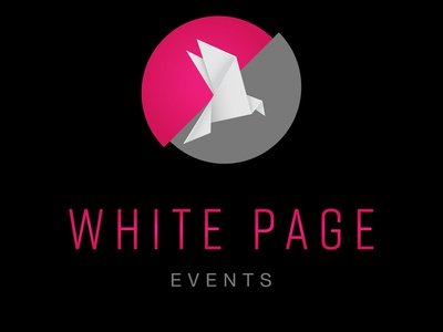 White Page Invasione Creativa Logodesign origami event agency event event branding design logo