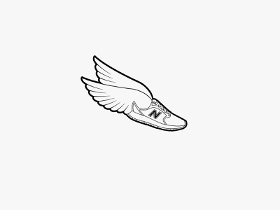 New Balance RC wings | Logo design print design print flat photoshop logodesign newbalance adobe flying wings nike sneaker shoe lineart illustrator icon branding design vector logo illustration