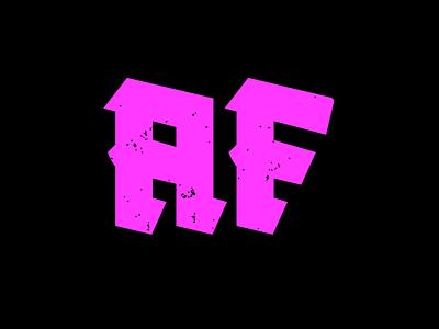Blackletter AF | Type design illustration blackletter monogram design branding font font design typeface logo logo design lettermark wordmark type design letter f letter a typography design typography