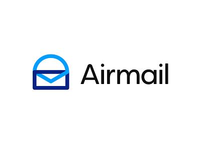 Airmail ✉️ | Logo design clean logo word logo custom typography m logo letterbox logo app logo globe icon logo type abstract logo air logo mail logo lettermark wordmark branding logo