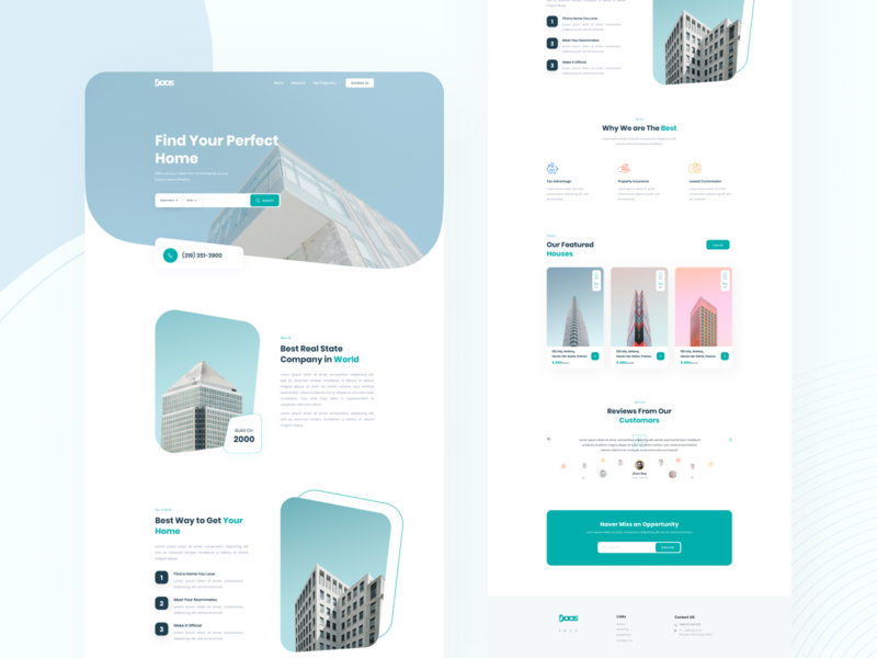 Daas Real estate Landing page Design website business interior user experience real state real estate website 2020 trend design real estate landing page 2020 trend 2020 design trend ux branding ux design saas ui landingpage typography psd template ui design design