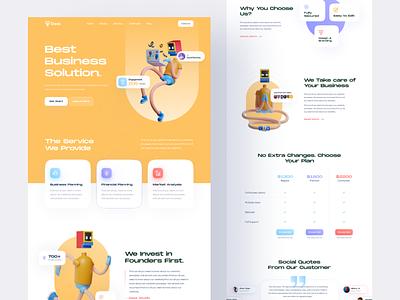Daas - Digital Agency Landing Page digital agency digital marketing startup branding agency design web page marketing ui digital agency landingpage psd template ui design typography design