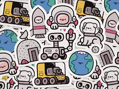 Stickers for chevostik.ru astronaut cosmos space mars art design art design stickerspub sticker mule sticker design stickermule happy smile fun cute kawaii doodle illustration chevostik