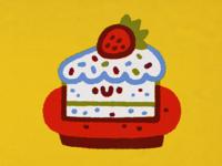 Cake honey japan character cartoon japanese fun cute kawaii doodle illustration happy birthday hb cakes