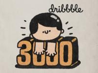 3000 followers happy japan cartoon japanese fun cute doodle illustration kawaii dribbble boy followers 3000