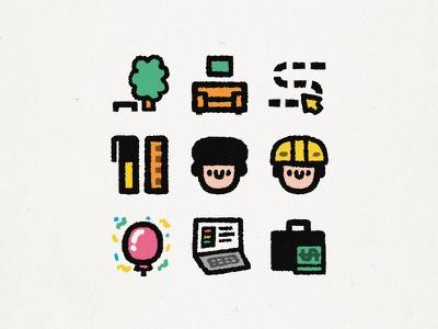 Icons for Danil Shaihutdinov branding japanese cute kawaii illustration doodle icon set iconography icon design icons set icons design icons pack iconset icon icons