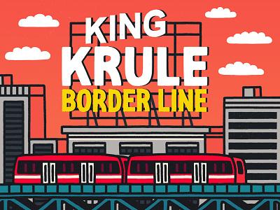 King Krule – Border Line illustration typography type lettering letters music