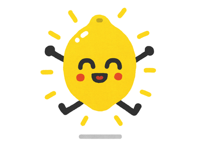 Lemon doodle doodling happy lucky lemon yellow citrus art illustration sticker
