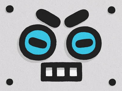 Robot Face face flat lineart line cutie smile angry illustration doodle kawaii icon robot