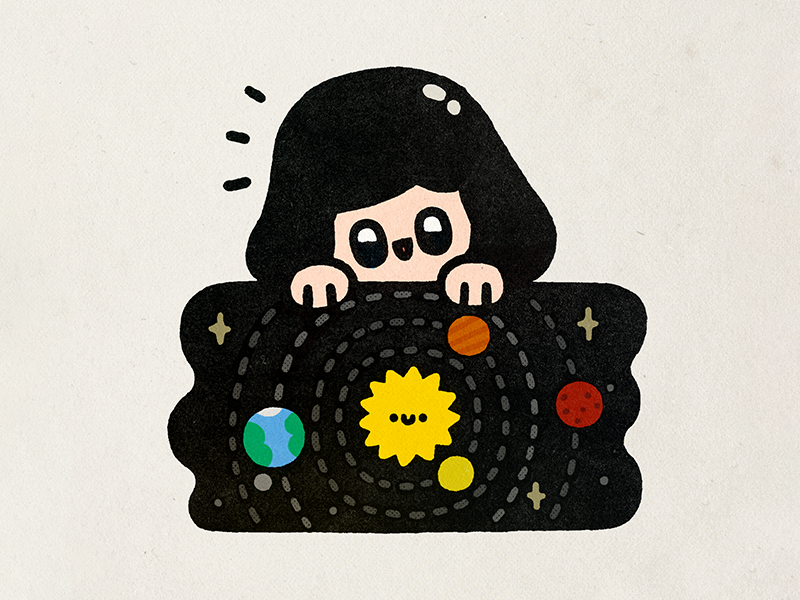 Nicolaus Copernicus science earth stars cosmos space kawaii fun cute illustration doodle nicolaus copernicus