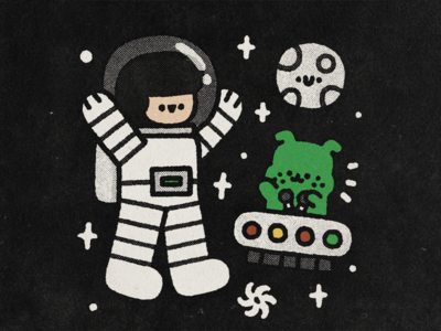 Cosmos gravity flyer japan happy character japanese doodle cartoon cute kawaii illustration astronaut cosmonaut moon ufo cosmos space