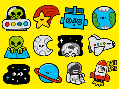Cosmopack in Snapchat doodle art doodle fun smile happy japanese kawaii cute snapchat illustration design cosmopack space stickers sticker