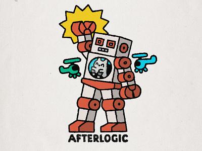 Afterlogic Roobot smile afterlogic cartoon japanese fun cute kawaii doodle illustration cat robot print