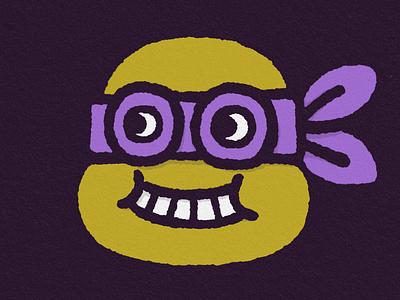 Donatello design character art cartoon smile fun doodle illustration turtle ninja turtle ninja donatello