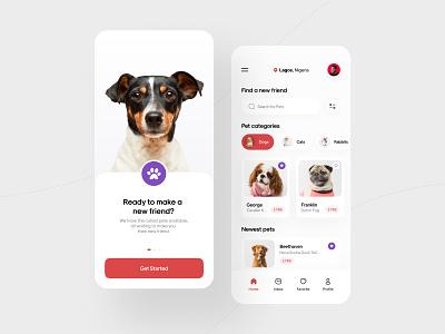 Pet Adoption App adoption app pet app pets visual design rabbits cats dogs piqodesign mobile app minimalism pet adoption pet ui app design uiux creative ui design