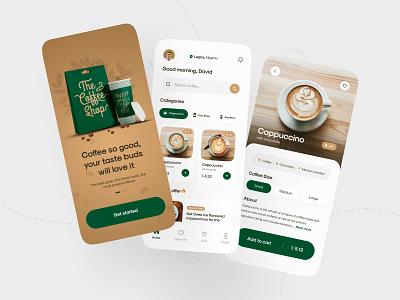 Coffee Shop Mobile App ☕ coffee shop ios app android app popular new  noteworthy minimalism ux design mobile design mobile app cappuccino coffee app coffee branding app design product design design uiux ui design ui creative