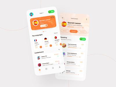 Language Learning App 📚 popular new  noteworthy mobile mobile app languages learning app language app language app design product design design uiux ui ui design creative