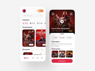 Game Store App 🎮 download mobile ux design mobile design new  noteworthy mobile app app design product design design uiux ui design ui creative cod call of duty mobile game gamers game