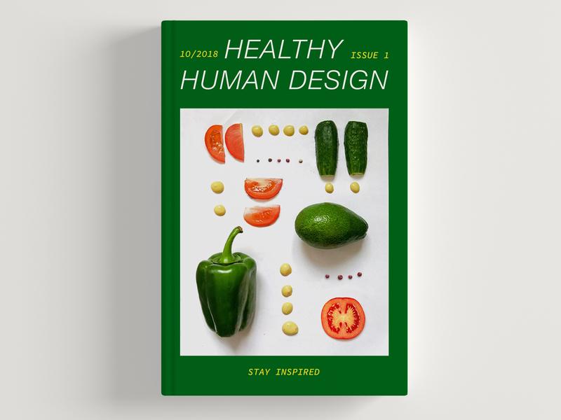 Magazine Cover health app photo cover design