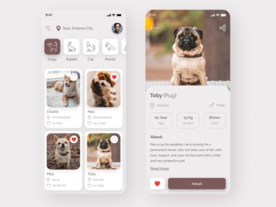 Pet Adoption App UI