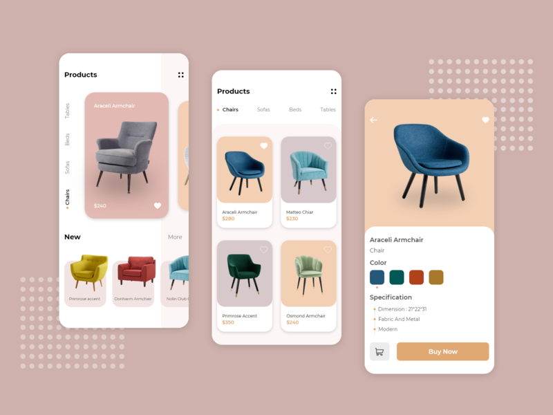 Furniture App UI